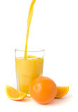 Fresh Oranges and Juice Stock Photo