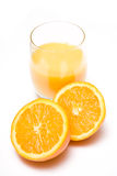 Fresh oranges and juice Royalty Free Stock Photography