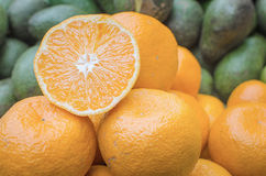 Fresh oranges on the market Royalty Free Stock Photos