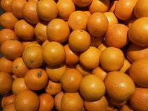 Fresh Oranges on a market stock images