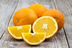 Fresh oranges royalty free stock photography