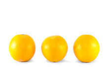 Fresh oranges. Fresh orange on white background royalty free stock image