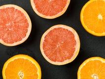 Fresh Oranges and Pink Grapefruits Citrus Fruit Stock Photos