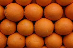 Fresh oranges ready to become juice. stock photography
