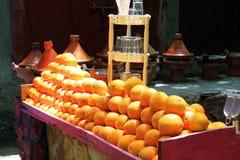 Fresh oranges on the street market. (Morocco Stock Photos