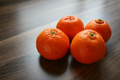 Fresh oranges. On table Royalty Free Stock Image