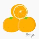 Fresh Oranges Vector. Fresh oranges and sliced orange Stock Photo