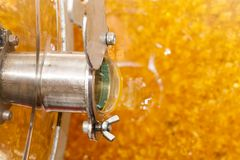 Fresh organic acacia honey Royalty Free Stock Photos