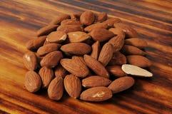 Fresh organic almonds Royalty Free Stock Photo