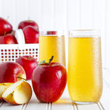 Fresh Organic Apple Juice Royalty Free Stock Photos