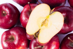 Fresh organic apple in pop art tone Stock Photos