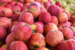 Fresh organic apples on street market stall Royalty Free Stock Images