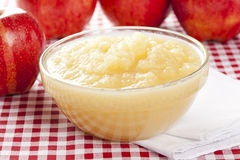 Fresh Organic AppleSauce Stock Photography