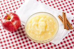 Fresh Organic AppleSauce Royalty Free Stock Image