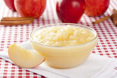 Fresh Organic AppleSauce Stock Images