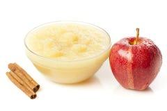 Fresh Organic AppleSauce Stock Image