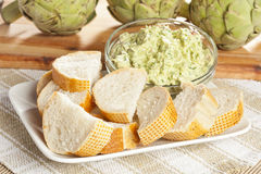 Fresh Organic Artichoke Dip stock images