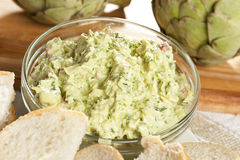 Fresh Organic Artichoke Dip Royalty Free Stock Photos