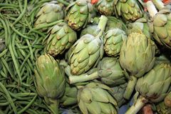 Fresh organic Artichoke Stock Photos