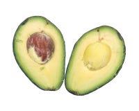 Fresh organic avocado cut in half Stock Image