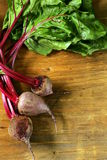 fresh organic beets with leaves Royalty Free Stock Photo