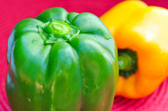 Fresh organic bell peppers Royalty Free Stock Photography