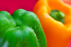 Fresh organic bell peppers Stock Photos