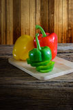 Fresh organic bell peppers Royalty Free Stock Photos