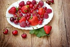 Fresh organic berry fruits Stock Photography