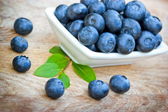 Fresh organic blueberry on table Stock Image