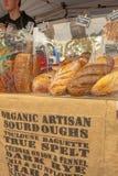 Fresh organic bread at the market Royalty Free Stock Photo
