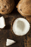 Fresh Organic Brown Coconut Stock Images