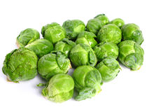 Fresh organic Brussels sprouts Royalty Free Stock Images