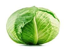 Fresh organic cabbage head isolated on white Stock Photo