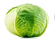 Fresh organic cabbage head isolated on white Stock Image