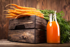 Fresh organic carrot juice Royalty Free Stock Images