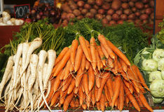 Fresh and organic carrot in market Royalty Free Stock Photography