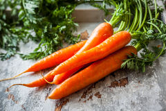 Fresh organic carrots Stock Photo