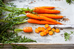 Fresh organic carrots Royalty Free Stock Photos