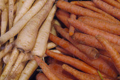 Fresh Organic Carrots in Vancouvers Grandville Island Market Royalty Free Stock Photography