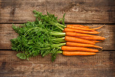 Fresh organic carrots Vegetables Healthy food Royalty Free Stock Photography