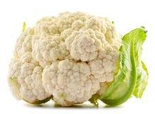 Fresh organic cauliflower on white. Background Royalty Free Stock Images