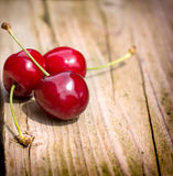 Fresh organic cherries close-up Royalty Free Stock Photo