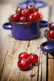 Fresh organic cherries Royalty Free Stock Image