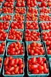 Fresh organic cherry tomatoes background Royalty Free Stock Photography