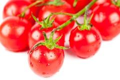 Fresh organic cherry tomatoes Royalty Free Stock Photo