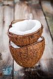 Fresh organic coconut Royalty Free Stock Photos