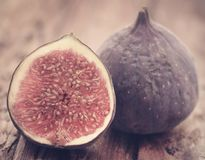 Fresh organic common fig Stock Images