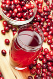 Fresh Organic Cranberry Juice Stock Photo