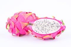 Fresh   organic dragon fruit dragonfruit or pitaya on white background healthy dragonfruit food isolated Stock Photo